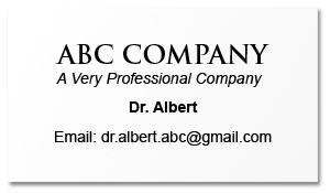 A professional company without professional email?
