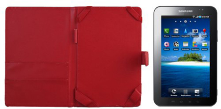 Samsung Galaxy Tab Red Leather Case Folio -  Red is my spouse's favourite colour. I bought it from Amazon.com, a real lether case cost RM170 with expedited shipping (delivered within 7 days). I can't find any real lether case for Samsung Galaxy Tab in Malaysia, all cases found are made by PVC or silicone.